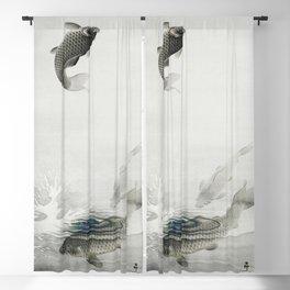 Three carps (1877-1945) by Ohara Koson (1877-1945) Blackout Curtain