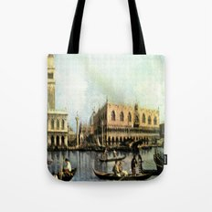 Return of the Bucintoro to the Molo on Ascension Day (Painted in 1729) Tote Bag