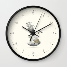 To the moon & back Wall Clock