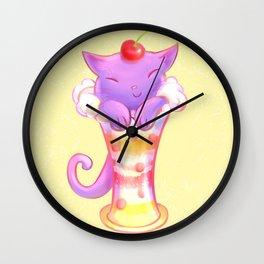 Sorbet Cat Wall Clock