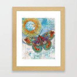 Sunny Dream Butterfly Framed Art Print