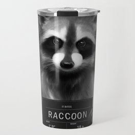 Raccoon Mugshot Travel Mug