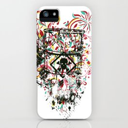 Toxic Love with Skull on the Barrel iPhone Case