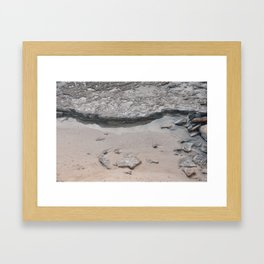 rocks in the ocean Framed Art Print