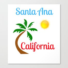 Santa Ana California Palm Tree and Sun Canvas Print