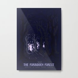 Visit The Forbidden Forest Metal Print