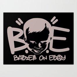 BoE Stretched Logo Art Print