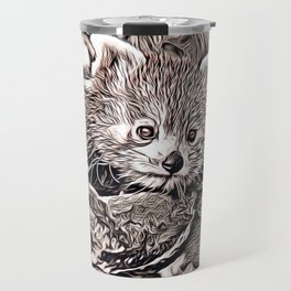 Rustic Style - Red Panda Travel Mug