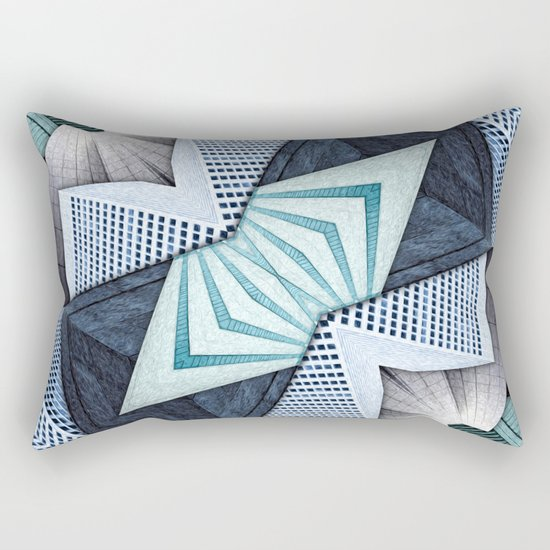 Abstract Structural Collage Rectangular Pillow