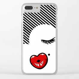 Pucker Kissy Glamour Lips Clear iPhone Case