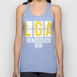 LGA - La Guardia Airport - New York City - Airport Code Souvenir or Gift Design Unisex Tank Top