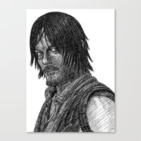 daryl dixon Canvas Prints featuring Daryl Dixon by Jack Kershaw