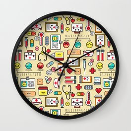 """Proud To Be A Nurse"" Pattern Wall Clock"