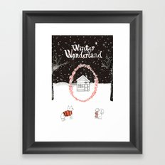 Winter Wonderland Holiday card/illustration Framed Art Print