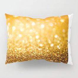 Gold Glitter Texture Pillow Sham