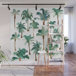 Palm Trees Pattern Wall Mural