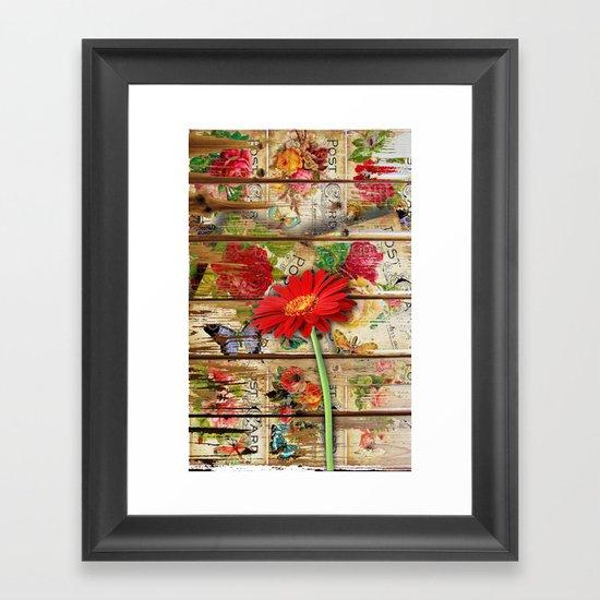 Sending Love Framed Art Print