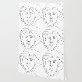 Blind Contour Line Drawing #1 Wallpaper