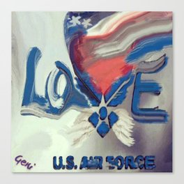 Air Force Brat Canvas Print
