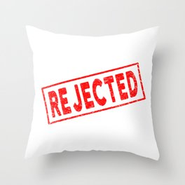 Rejected Red Rubber Stamp Throw Pillow