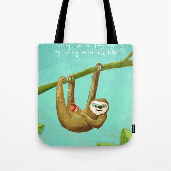 Nothing gets me going like my morning caffe latte Tote Bag