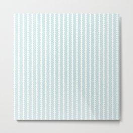 Tiny Triangles Stripe in Mint Metal Print
