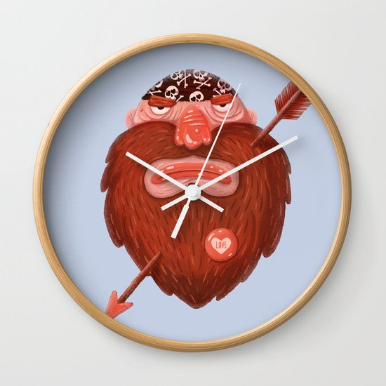 Biker in love Wall Clock