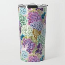 Succulents and Crystals Travel Mug