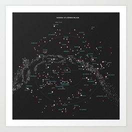 Norra Stjärnhimlen Art Print