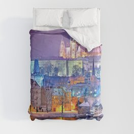 Colorful Prague Landscape Comforters