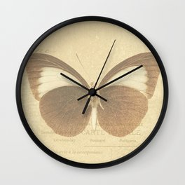 Vintage Paris Butterfly Wall Clock