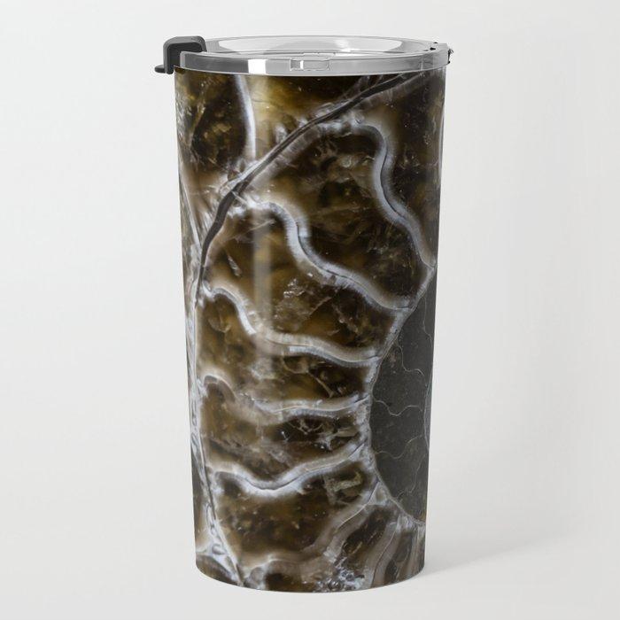 Patterns of ammonite Travel Mug