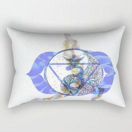 Chakra Asana 2 Brow Chakra (Ajna) Rectangular Pillow