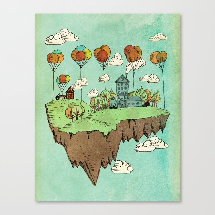 The Floating Farm Canvas Print