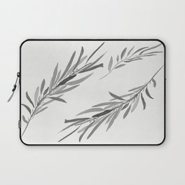 Eucalyptus leaves black and white Laptop Sleeve