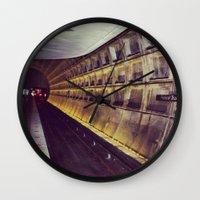 subway Wall Clocks featuring Subway by wendygray