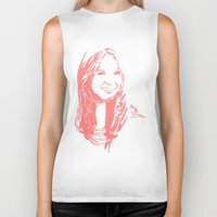 karen hallion Biker Tanks featuring Karen Gillan by josie leigh