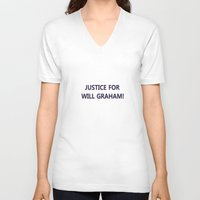 will graham V-neck T-shirts featuring Justice for Will Graham by TheseRmyDesigns