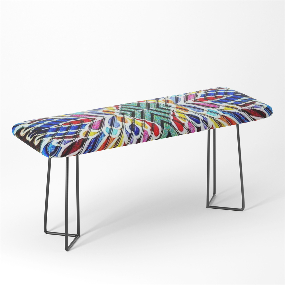 Feather_Graffiti_Bench_by_paigeedesigns