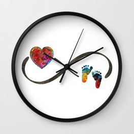 Infinity Symbol Baby Love - Always And Forever - Sharon Cummings Wall Clock