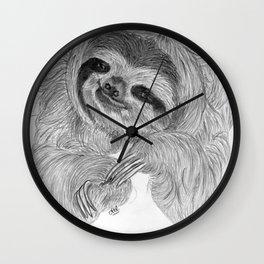 Just a sloth Wall Clock