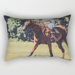 Chestnut Polo Pony Rectangular Pillow