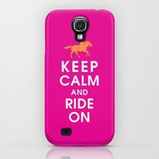 Keep Calm and Ride On (horseback) Slim Case Galaxy S4