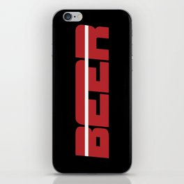 Beer is my Sport (Red Letters White Stripe) iPhone Skin
