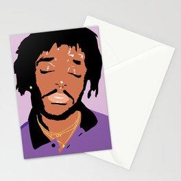 Lil Uzi Portrait (Purple) Stationery Cards