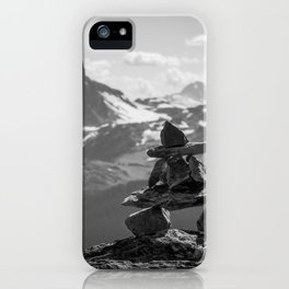 Black Tusk and the Inukshuk iPhone Case