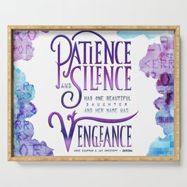 PATIENCE AND SILENCE Serving Tray