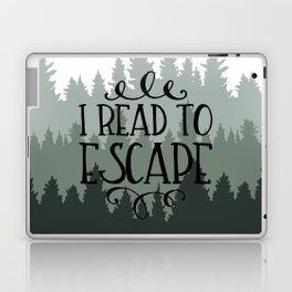 I Read to Escape (Trees) Laptop & iPad Skin