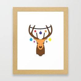 Merry christmas Reindeer #society6 #decor #buyart #artprint Framed Art Print