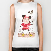 minnie Biker Tanks featuring Minnie  by ZarsStudio